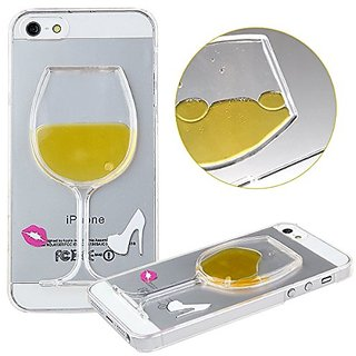 iPhone SE 5s 5 Case,iPhone SE 5s Yellow Wineglass Case,ANLED Creative Special 3D Flowing Liquid Yellow Wineglass Design