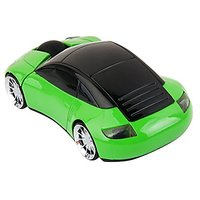 Elsees 2.4GHz 3D Car Shape Wireless Optical Mouse USB Gaming Mouse With Receiver For PC Laptop (Green)