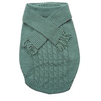 Fashion Pet Outdoor Dog Scarf Sweater, Large, Green