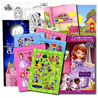 Disney Girls Stickers Activity Book; Minnie Mouse Stickers, Princess Sofia Stickers, Doc Mcstuffins Stickers & Princess