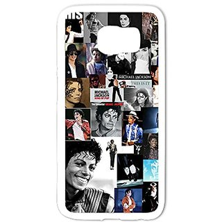Case-Unique Galaxy S6 Case,Classic Michael Jackson Photo Collection Protective Cover Skin for Galaxy S6 TPU White
