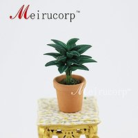 dollhouse 1/12th scale decorate Delicate green leaves Pot model