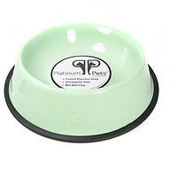 Platinum Pets Platinum Pets 4-Cup Embossed Non-Tip Dog Bowl, Winter Mint