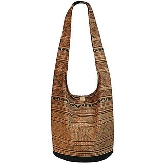 Young Plant Elephant Square Hippie Bag Shoulder Bag Hippie Bag Crossbody Bag Messenger Bag (Brown Teak)