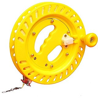 Hengda Kite Reel For Big Kites LED kites Professional Reel Winder with Strong Kevlar Line 9 inch Diameter with 1,000 FT