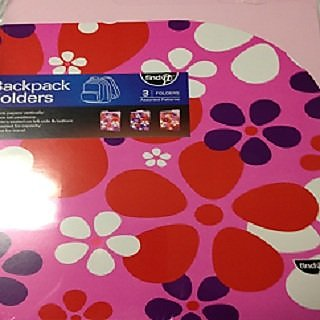 Backpack Folders - 3 Folders Assorted Pink Patterns