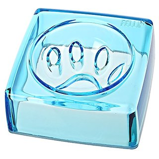 FelliP Kristal Pet Bowl (Good Manners), 14cm, Sapphire