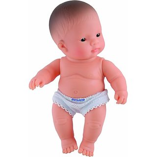 Miniland 8.25 Anatomically Correct Newborn Baby Doll, Asian Girl