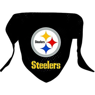Hunter MFG Pittsburgh Steelers Mesh Dog Bandana, Large