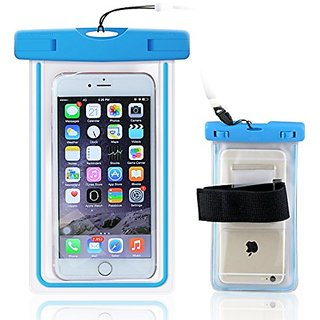 Waterproof Case, Universal Luminous Waterproof Bag Pouch with Armband for Iphone Samsung Galaxy Samsung Note, all phone