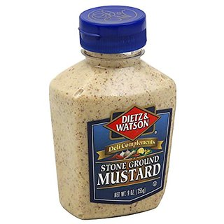 Dietz & Watson, Deli Compliments, Stone Ground Mustard, 9oz Bottle (Pack of 2)