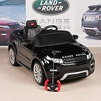 RastarUSA Range Rover Evoque 12V Battery Operated/Remote Controlled Ride On Car W/ Mat And Keychain, Black