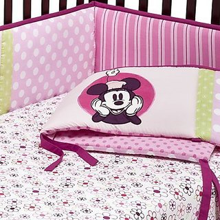 Tiddliwinks Mod Minnie Mouse Crib Bumper