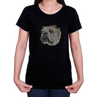 LYN DORF Bulldog T-Shirt, Black, Medium