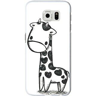 S6 Edge Case Cute animals, Samsung Galaxy S6 Edge Case cute little giraffe