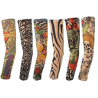 IFfree 6pcs Set Body Art Arm Slip Accessories Fake Temporary Tattoo Sleeves