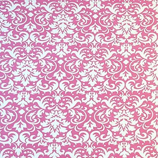 SheetWorld Fitted Cradle Sheet - Pink Damask - Made In USA