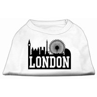 Mirage Pet Products 18-Inch London Skyline Screen Print Shirt For Pets, XX-Large, White