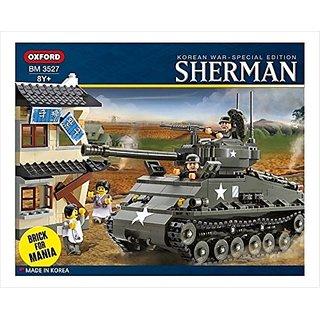 Oxford 767 Piece Sherman M4A3E8 Easy 8 Tank Building Block Set