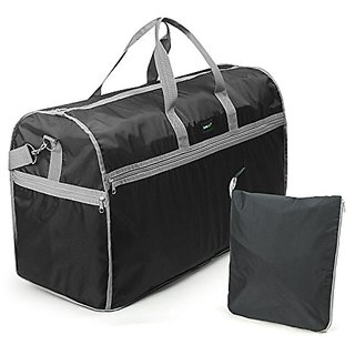 Lavievert Foldable Travel Duffle Bag Attached to Luggage Sports Gear Gym Bag for Outdoor Activities