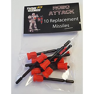 RoboAttack by ThinkGizmos Remote Control Robot - Spare Missiles Only (pack of 10)