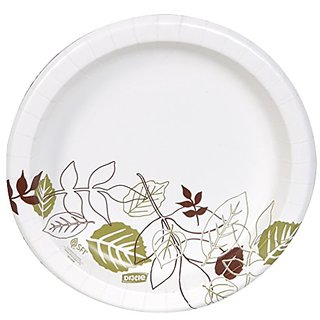 Dixie UX9PATHPB Pathways Paper Plates in Dispenser Box, 8.5