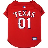 Pets First MLB Texas Rangers Dog Jersey, X-Small