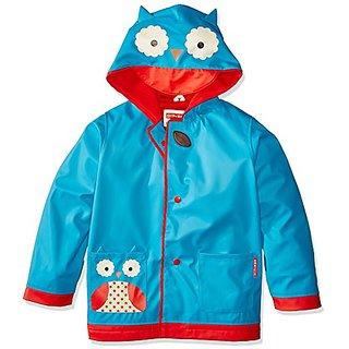 Skip Hop Zoo Little Kid Raincoat, Otis Owl, Large
