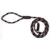 """Hamilton 3/8"""" X 6 London Quick Lead And Choke Collar For Dogs, Black Confetti Weave"""