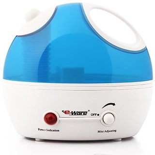 Eware USA Eware 3K037 Cool Mist Ultrasonic Humidifier With Whisper-quiet Operation, Automatic Shut-off