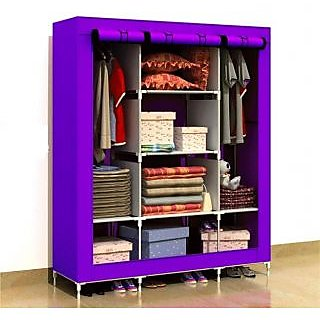 EI Stylish&Foldable Canvas Cupboard, Cabinet, Almirah, Wardrobe,MysteriousPurple available at ShopClues for Rs.5799