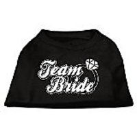 Mirage Pet Products 18-Inch Team Bride Screen Print Shirt For Pets, XX-Large, Black