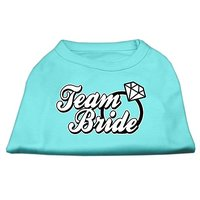 Mirage Pet Products 18-Inch Team Bride Screen Print Shirt For Pets, XX-Large, Bright Pink