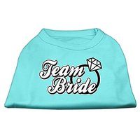 Mirage Pet Products 18-Inch Team Bride Screen Print Shirt For Pets, XX-Large, Aqua
