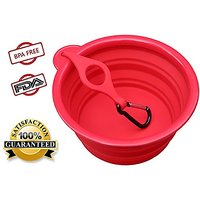 Northern Outback Collapsible Travel Dog Bowl, 7 Inch With BONUS Clip And Carabiner, 5 Cup For Medium To Large Dogs. Sili