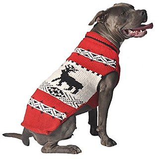 Chilly Dog Deer Shawl, Red, 3X-Large