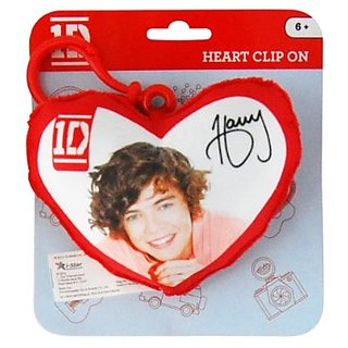 1D One Direction Plush Heart Back Pack Clip Harry