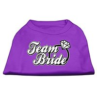 Mirage Pet Products 18-Inch Team Bride Screen Print Shirt For Pets, XX-Large, Purple