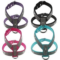 Nunubee Dog Harness With Leash Adjustable Pet Training Walking Collar Purple L