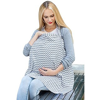 Corewill Privacy Baby Nursing Cover for Breastfeeding Cotton Breathable (White)