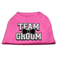 Mirage Pet Products 18-Inch Team Groom Screen Print Shirt For Pets, XX-Large, Bright Pink