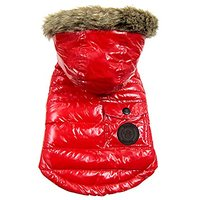 FouFou Dog Foucler Coat For Dogs, Large, Red
