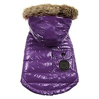 FouFou Dog Foucler Coat For Dogs, Large, Purple