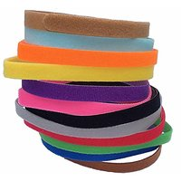 12 Colors Adjustable Velcro Puppy ID Bands Collars For Puppy Small Dogs, 3/8-Inch Small Size