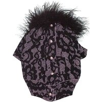 The Dog Squad Bardot Lace Button Back Cardi Pet Sweater, X-Small