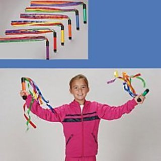 Cramer 051480 Rainbow Ribbon Wands with Sound (Pack of 6)
