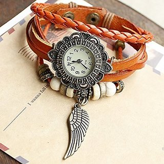 MONSTER-MASTER Flying Wings Leather Watch Men and Women Lovers Watch Fashion-NP071Q Watches