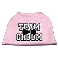 Mirage Pet Products 18-Inch Team Groom Screen Print Shirt For Pets, XX-Large, Light Pink