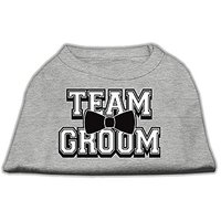 Mirage Pet Products 18-Inch Team Groom Screen Print Shirt For Pets, XX-Large, Grey