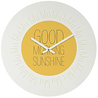 DENY Designs Allyson Johnson Morning Sunshine Round Clock, 12